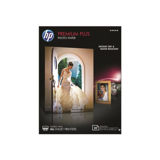 HP Premium Plus Photo Paper - fotopapir - 20 ark - 130 x 180 mm - 300 g/m²