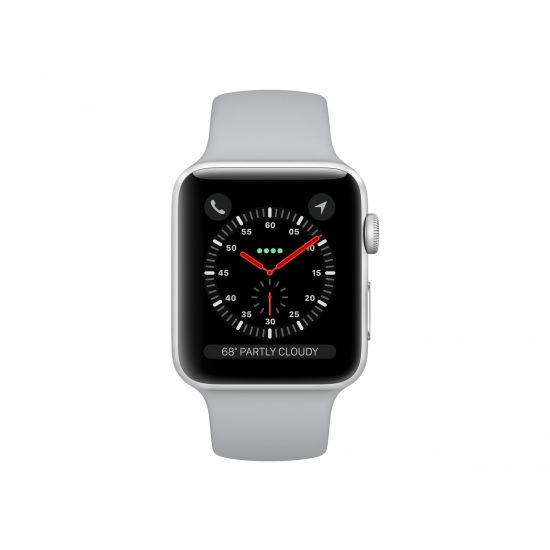 Apple Watch Series 3 (GPS) - sølvaluminium - smart ur med sportsbånd - tåge - 8 GB