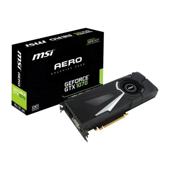 MSI GTX 1070 AERO 8G OC &#45 NVIDIA GTX1070 &#45 8GB GDDR5 - PCI Express 3.0 x16
