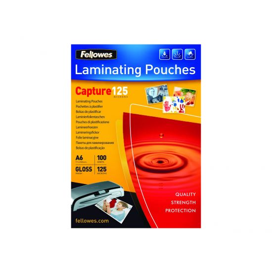 Fellowes Laminating Pouches Capture 125 micron - 100 - 111 x 154 mm - laminerings poser