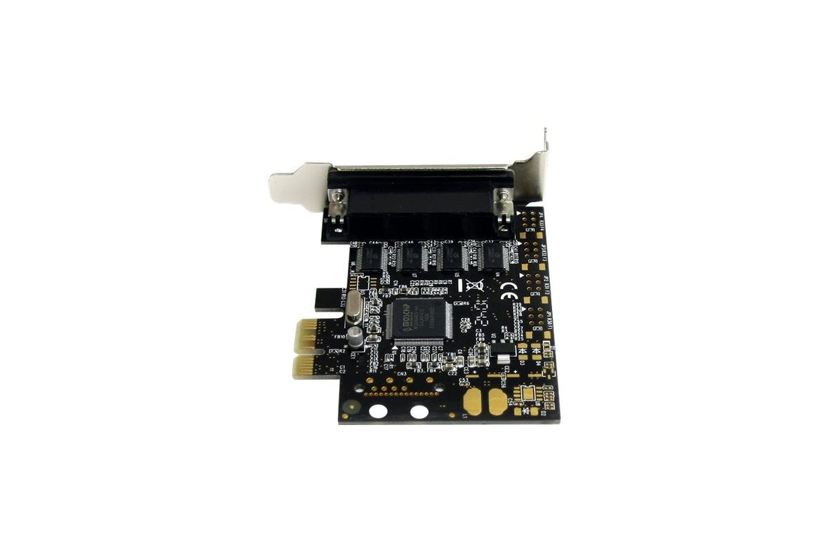 StarTech.com 4 Port RS232 PCI Express Serial Card w/ Breakout Cable