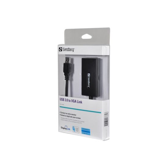 Sandberg ekstern videoadapter - USB 3.0 til VGA