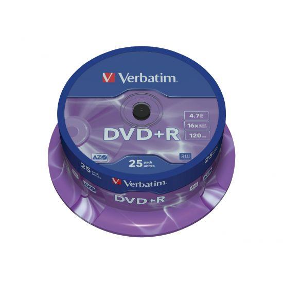 Verbatim DataLifePlus - DVD+R x 25 - 4.7 GB - lagringsmedie