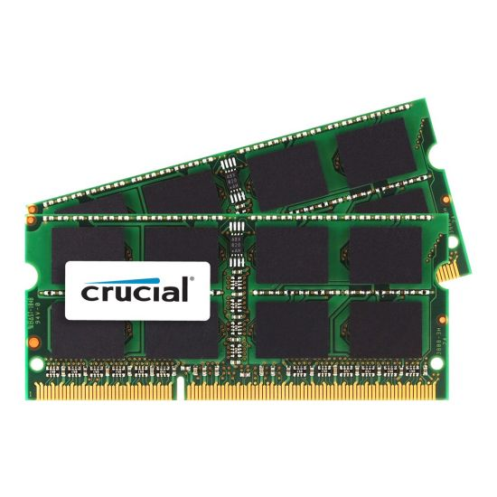 Crucial &#45 16GB: 2x8GB &#45 DDR3 &#45 1600MHz &#45 SO DIMM 204-PIN - CL11