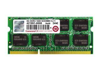 Transcend &#45 8GB &#45 DDR3 &#45 1600MHz &#45 SO DIMM 204-PIN