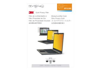 """3M Gold Privacy Filter for 12.5"""" Widescreen Laptop"""