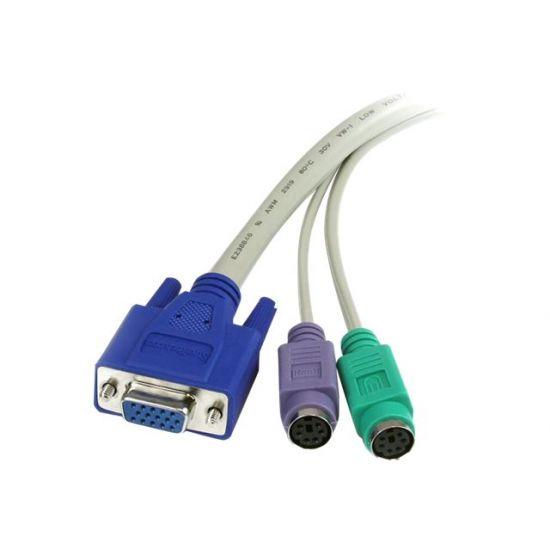 StarTech.com 6 ft 3-in-1 PS/2 KVM Extension Cable - forlængerkabel til tastatur / video / mus (KVM) - 1.8 m