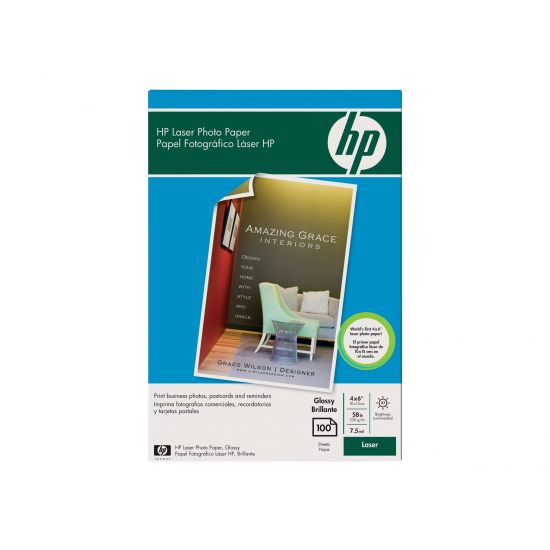HP Color Laser Photo Paper - fotopapir - 100 ark - 100 x 150 mm - 220 g/m²