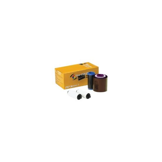 Zebra TrueColours ix Series YMCKOK - 1 - farve (gul, magenta, cyan, sort, transparent, sort) - kassette til print-bånd