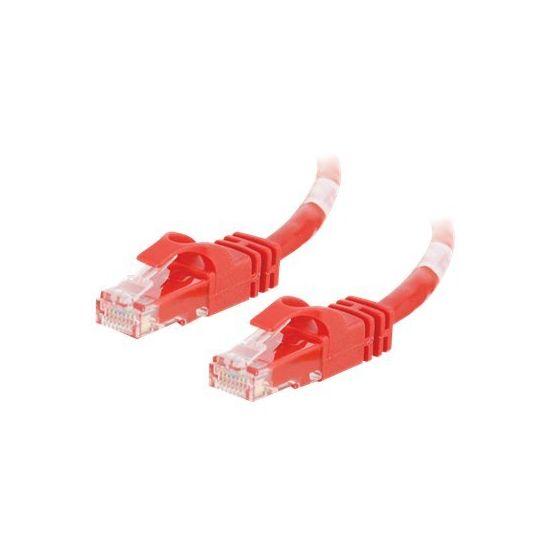 C2G Cat6 Booted Unshielded (UTP) Crossover Patch Cable - krydskabel - 2 m - rød