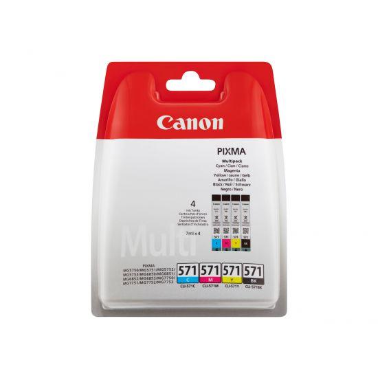 Canon CLI-571 C/M/Y/BK Value Pack - 4 pakker - sort, gul, cyan, magenta - original - blækbeholder
