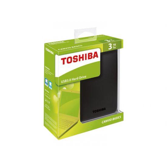 Toshiba Canvio Basics &#45 3TB - USB 3.0 - 10 pin Micro-USB Type B