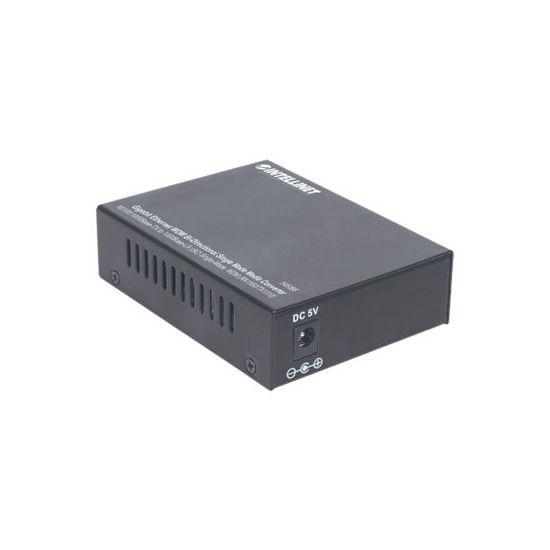 Intellinet Gigabit Ethernet WDM Media Converter - fibermedieomformer - 10Mb LAN, 100Mb LAN, GigE