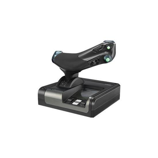 Logitech X52 Professional H.O.T.A.S. - joystick og speeder - kabling