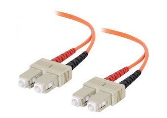 C2G SC-SC 62.5/125 OM1 Duplex Multimode PVC Fiber Optic Cable (LSZH)