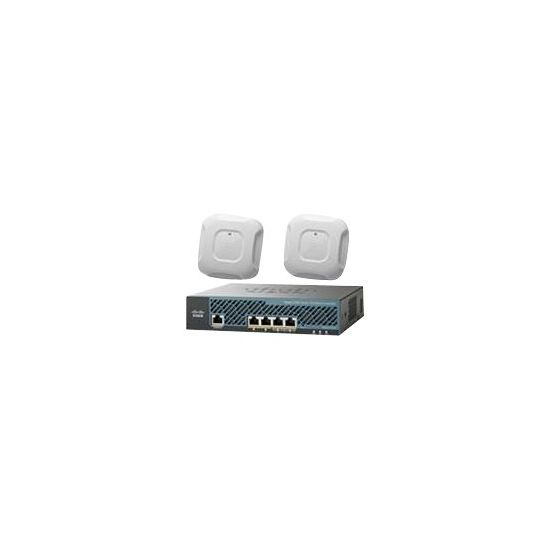 Cisco 2504 Wireless Controller - Mobility Express Bundle - styringsenhed for netværk - med 2 x Cisco Aironet 3700 Series Access Points