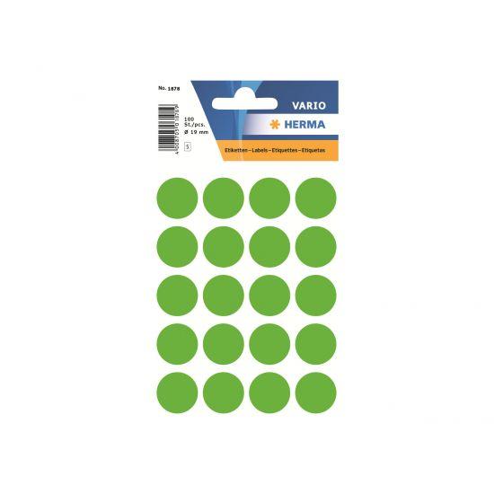 HERMA - etiketter - 100 etikette(r) - 19 mm rund