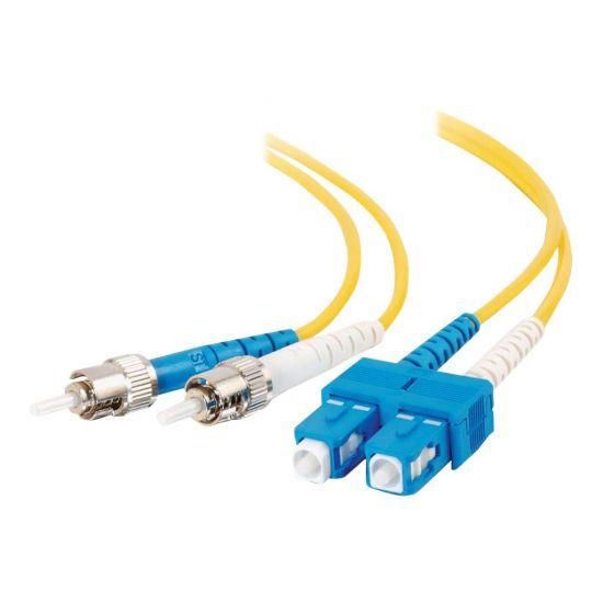 C2G ST-ST 9/125 OS1 Duplex Singlemode PVC Fiber Optic Cable (LSZH) - netværkskabel - 2 m - gul