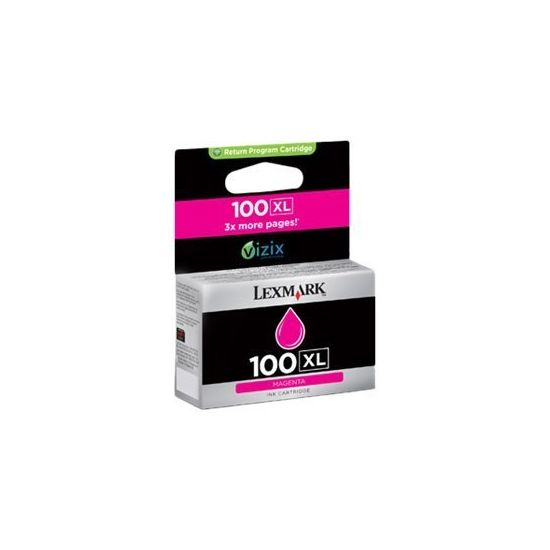 Lexmark Cartridge No. 100XL - Højtydende - magenta - original - blækpatron - LCCP, LRP