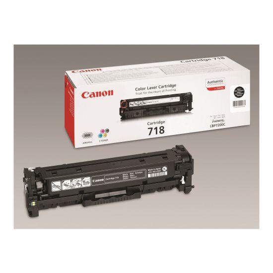 Canon 718 Black - 2 pakker - sort - original - tonerpatron