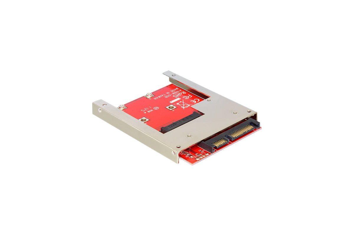 "DeLOCK Converter SATA 22 pin > mSATA with 2.5"" Frame"