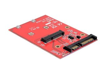 "DeLOCK Converter SATA 22 pin > mSATA with 2.5"" Frame"