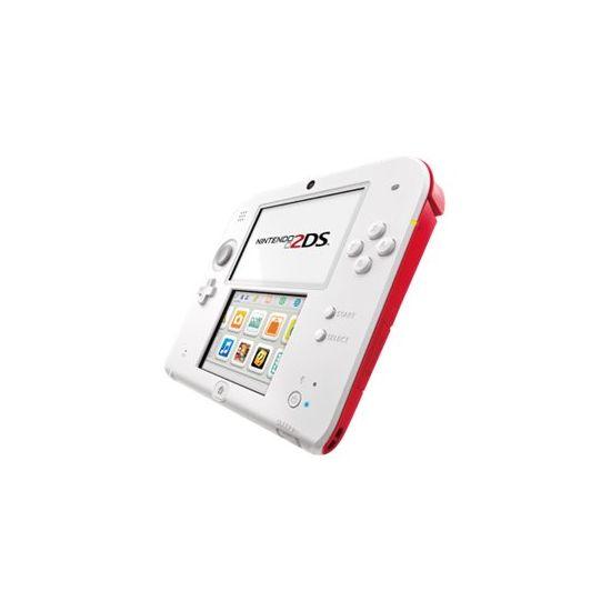 Nintendo 2DS - håndholdt spillekontrolenhed - hvid, rød