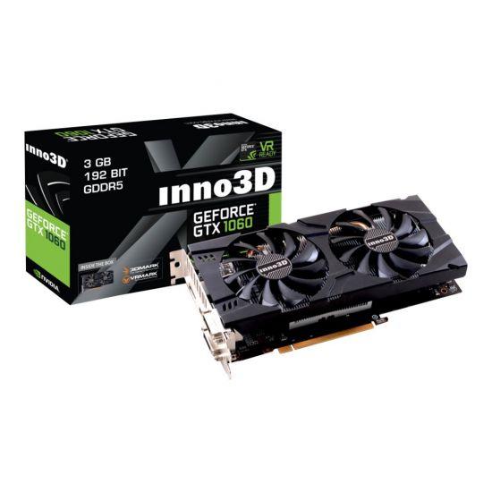 Inno3D iChiLL GeForce GTX 1060 X2 &#45 NVIDIA GTX1060 &#45 3GB GDDR5 - PCI Express 3.0 x16