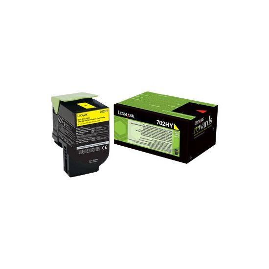Lexmark 702HYE - Højtydende - gul - original - tonerpatron - Lexmark Corporate