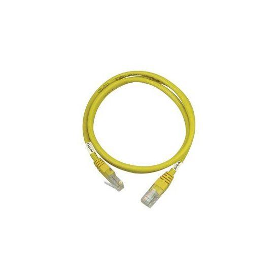 DELTACO krydskabel - 2 m - gul