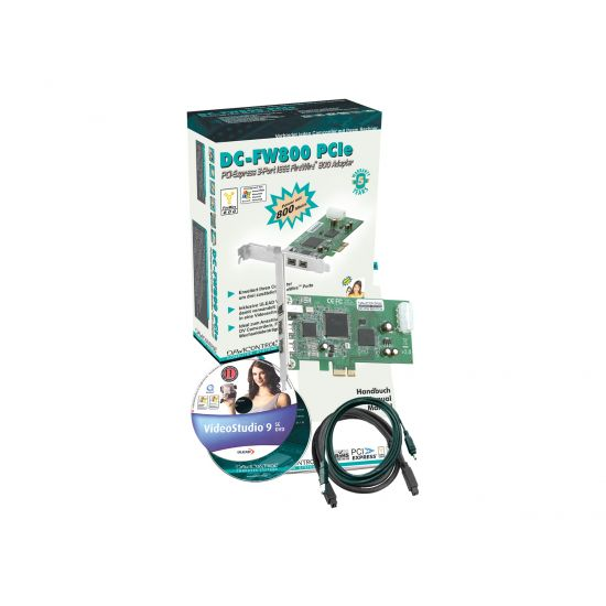 Dawicontrol DC-FW800 PCIe - videooptagelsesadapter - PCIe lav profil