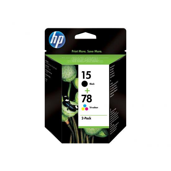 HP 15/78 - 2 pakker - sort, farve (cyan, magenta, gul) - original - blækpatron