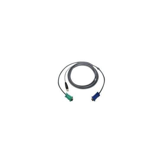 IOGEAR kabel til tastatur / video / mus (KVM) - 3.05 m