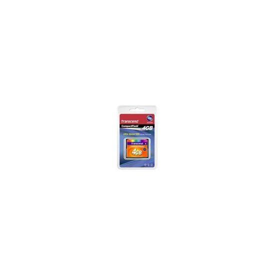 Transcend - flashhukommelseskort - 4 GB - CompactFlash