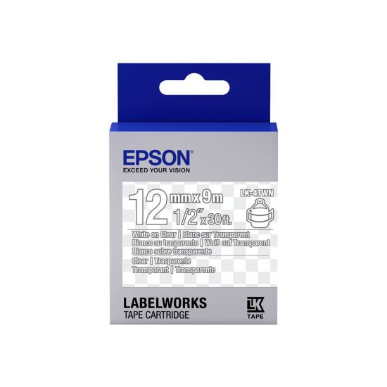 Epson LabelWorks LK-4TWN - mærkattape - 1 rulle(r) - Rulle (1,2 cm x 2,9 m)