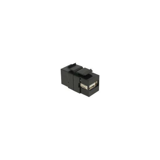 DeLOCK Keystone module USB 2.0 A female > USB 2.0 B female - modular indlæg