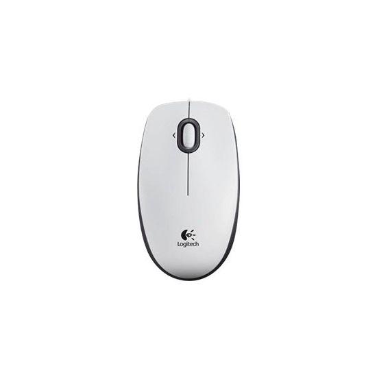 Logitech B100 - mus - USB - hvid