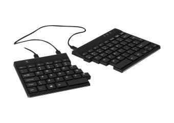 R-Go Split Ergonomisk tastatur, QWERTY (Nordic), sort, kablet