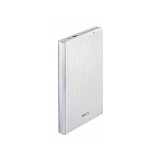 """DELTACO 2,5"""" Harddisk kabinet USB 3.0 Sølv"""