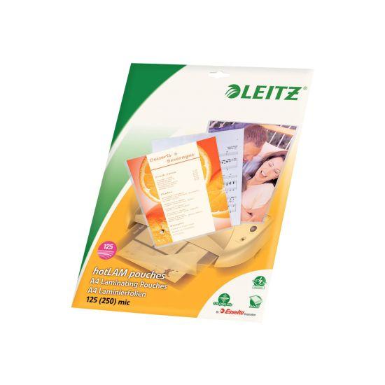Leitz - 25-pakke - blank - laminerings poser