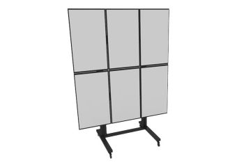 Multibrackets M Public Video Wall Stand 6-Screens