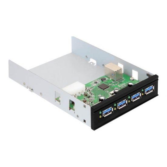 DeLock USB 3.0 Internal Hub 4 Port - hub - 4 porte