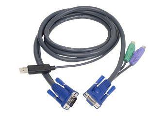 IOGEAR Intelligent KVM Cable kabel til tastatur / video / mus (KVM)