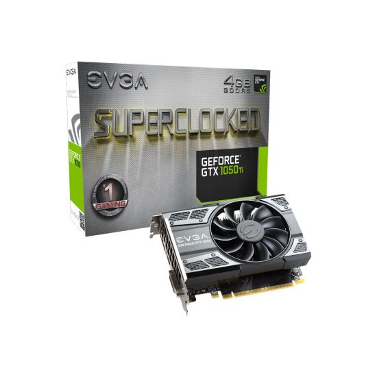 EVGA GeForce GTX 1050 Ti SC Gaming &#45 NVIDIA GTX1050Ti &#45 4GB GDDR5 - PCI Express 3.0 x16