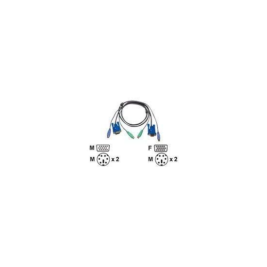 ATEN 2L-5003P/C - kabel til tastatur / video / mus (KVM) - 3 m