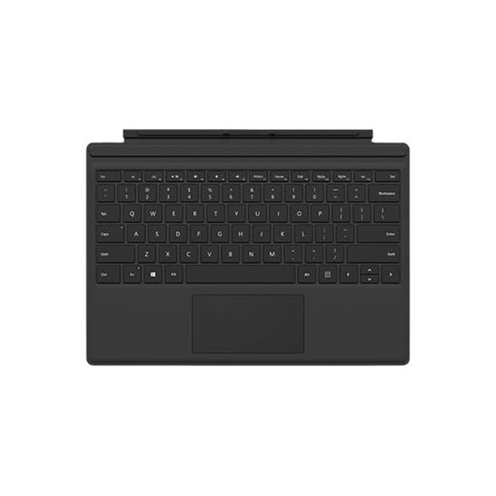 Microsoft Surface Pro 4 Type Cover - tastatur - med trackpad, accelerometer - Dansk/Finsk/Norsk/Svensk - sort