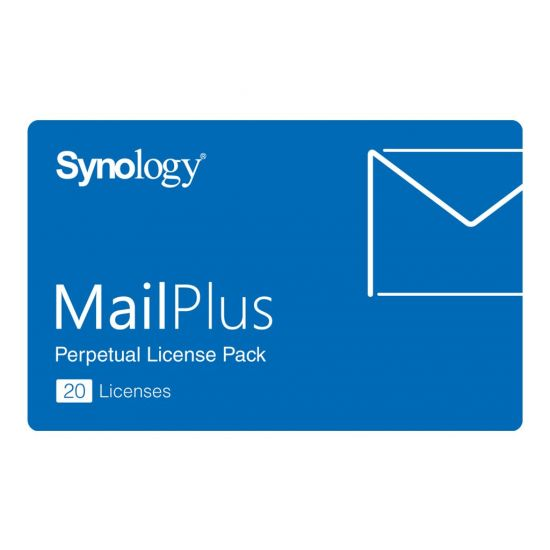 Synology MailPlus License Pack - licens - 20 e-mailkonti
