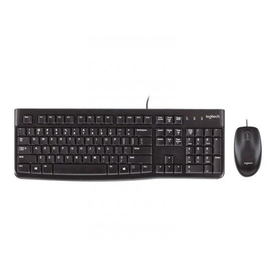 Logitech Desktop MK120 - tastatur og mus-sæt - Nordisk