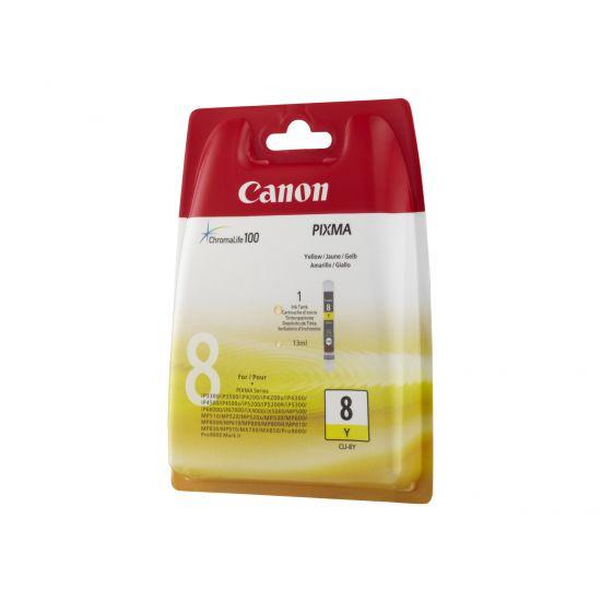Canon CLI-8Y - gul - original - blækbeholder