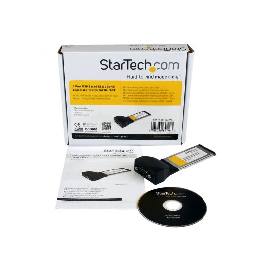 StarTech.com 1 Port ExpressCard to RS232 DB9 Serial Adapter Card USB Based - seriel adapter